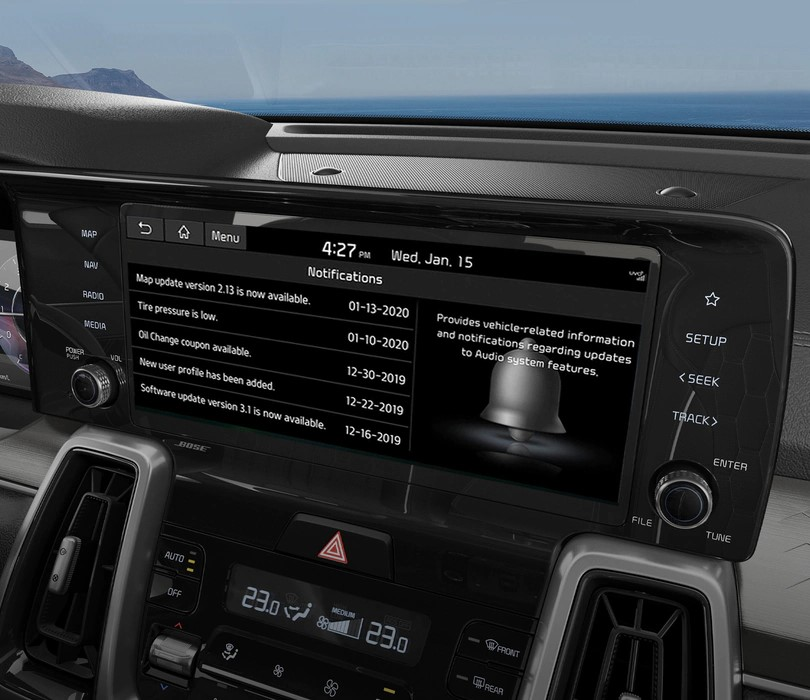 In-Vehicle Notification Center