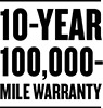 10 Year / 100,000 Mile Warranty