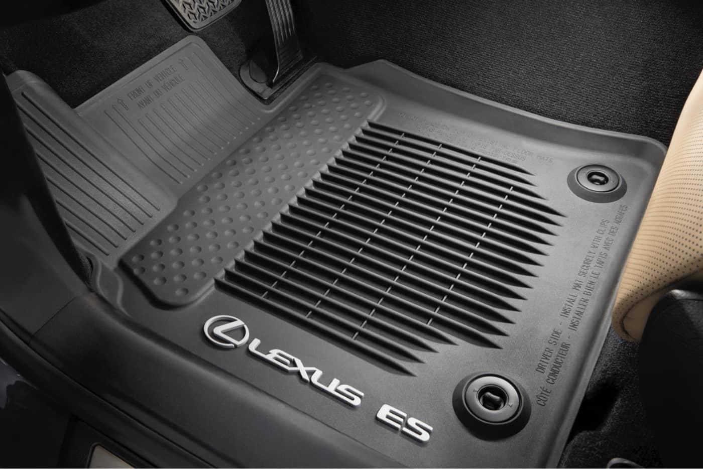 A Lexus branded floor mat specifically for the Lexus ES.