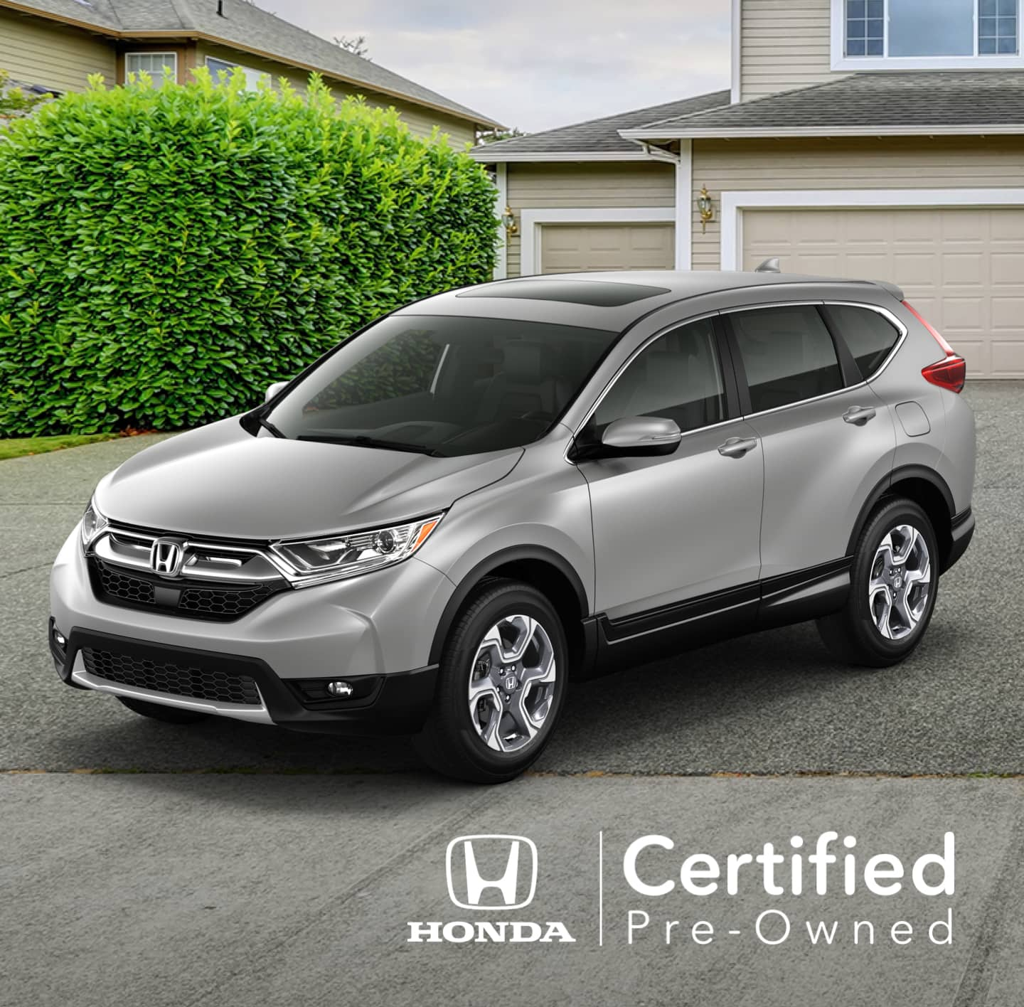 Honda Certified Pre-Owned vehicle in driveway
