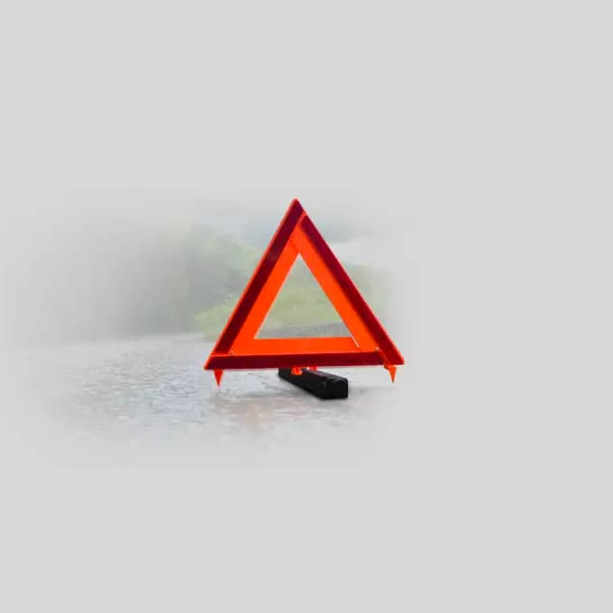 Road Hazard Orange Safety Triangle