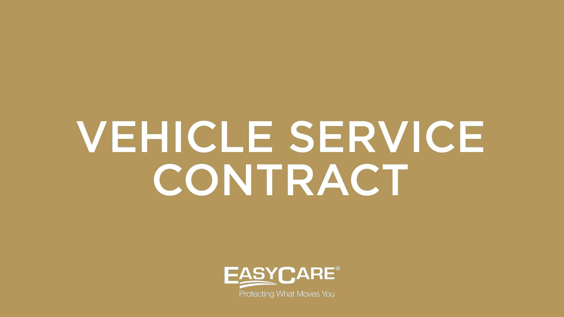 Vehicle Service Contract (VSC)