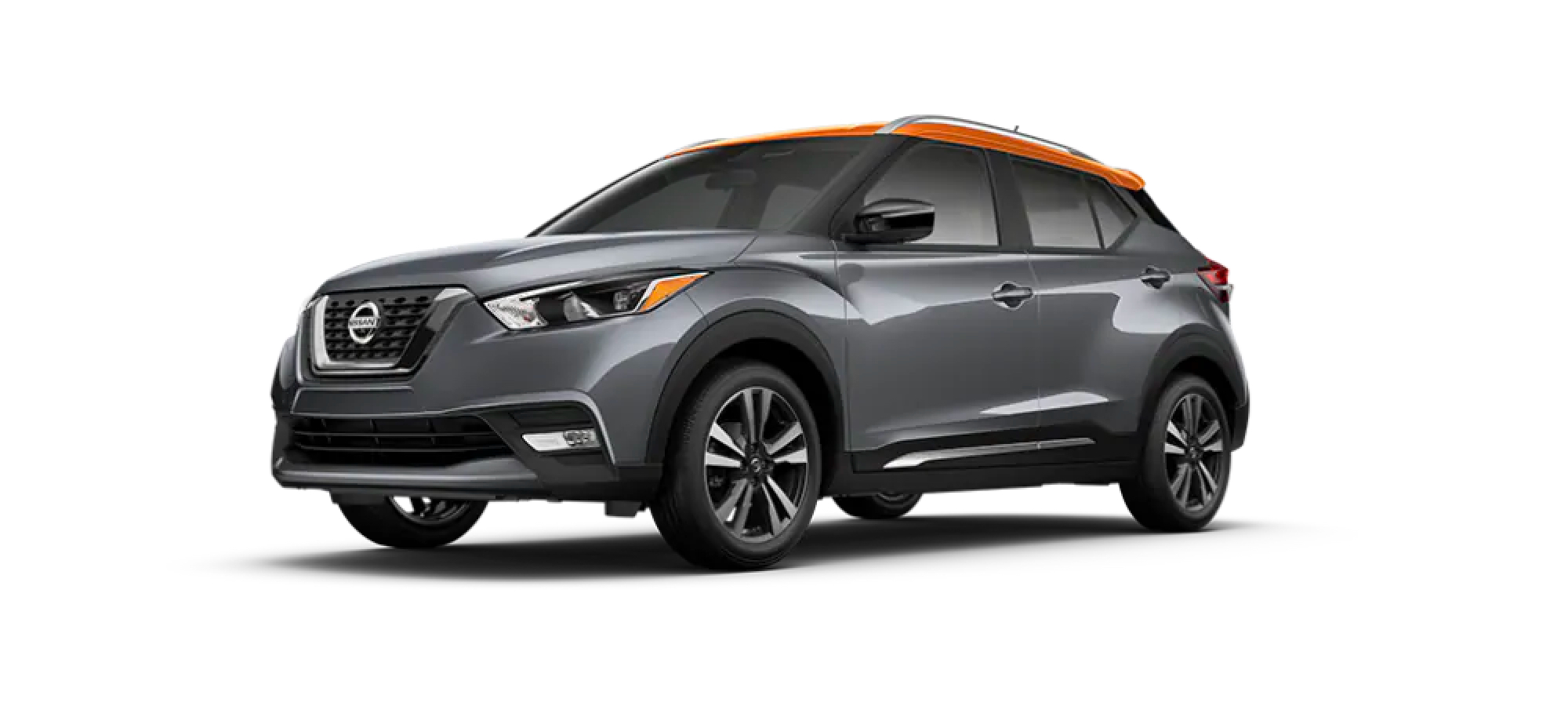 Gun Metallic/Monarch Orange Metallic Nissan Kicks