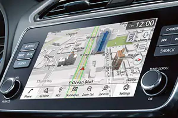 Front HUD Unit displaying Navigation