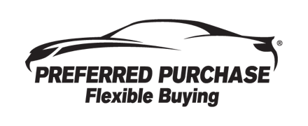 PreferredPurchase logo, black and white car icon
