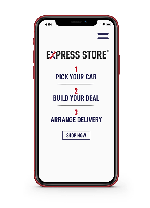 Cellphone with Express Store on it