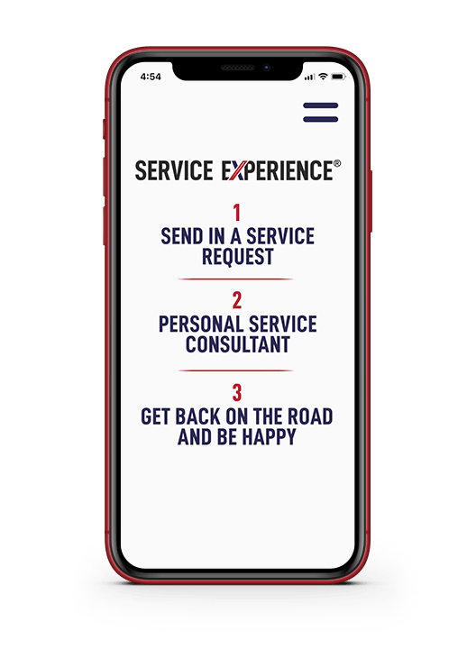 Cellphone with Car Servicing on it
