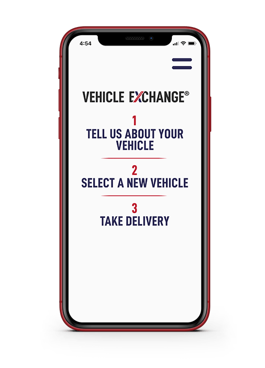 Cellphone with Vehicle Exchange on it