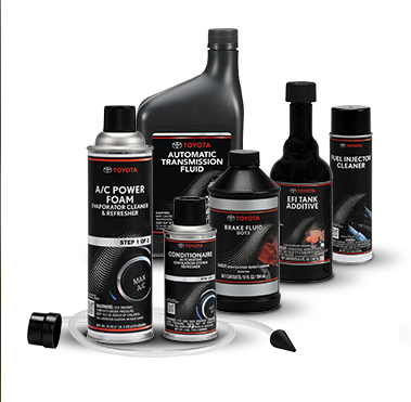 Image of Toyota genuine fluids.