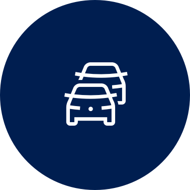 A graphic icon shows a car and the outline of a car behind it