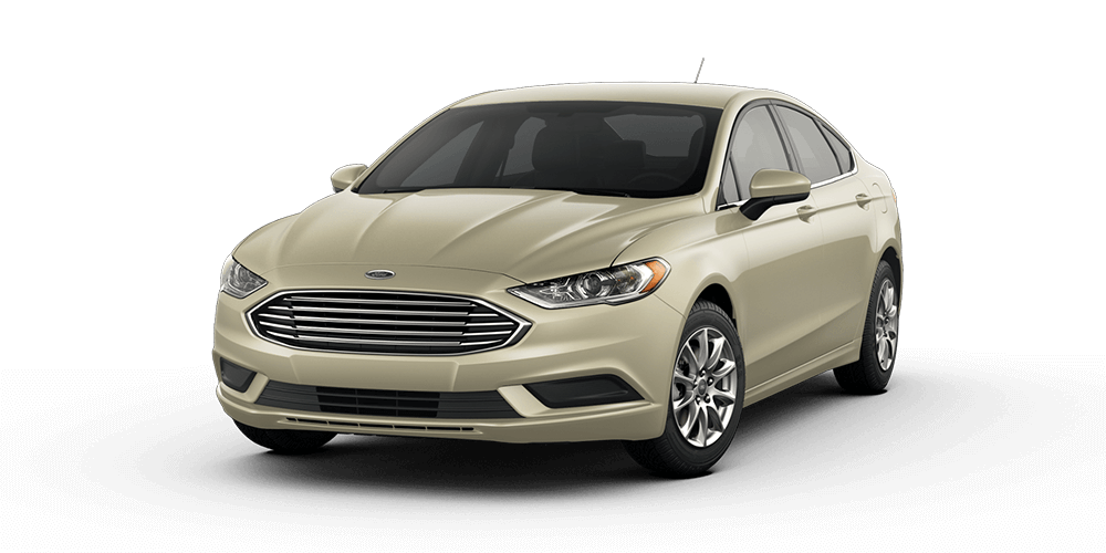 2018 Ford Fusion in White Gold