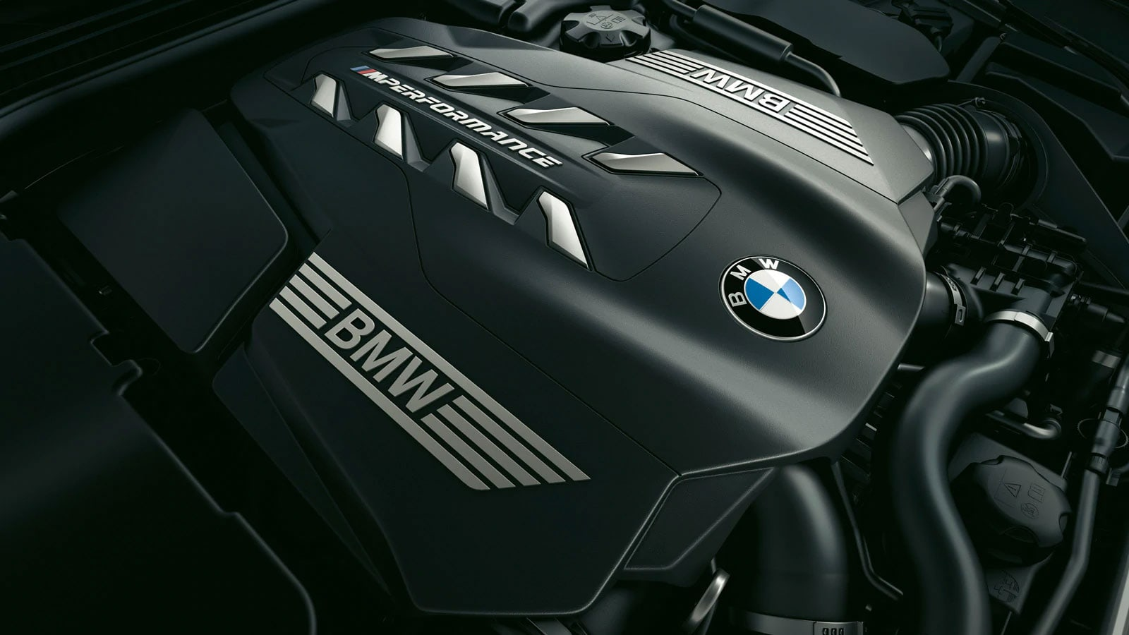 The BMW 8 Series engine.