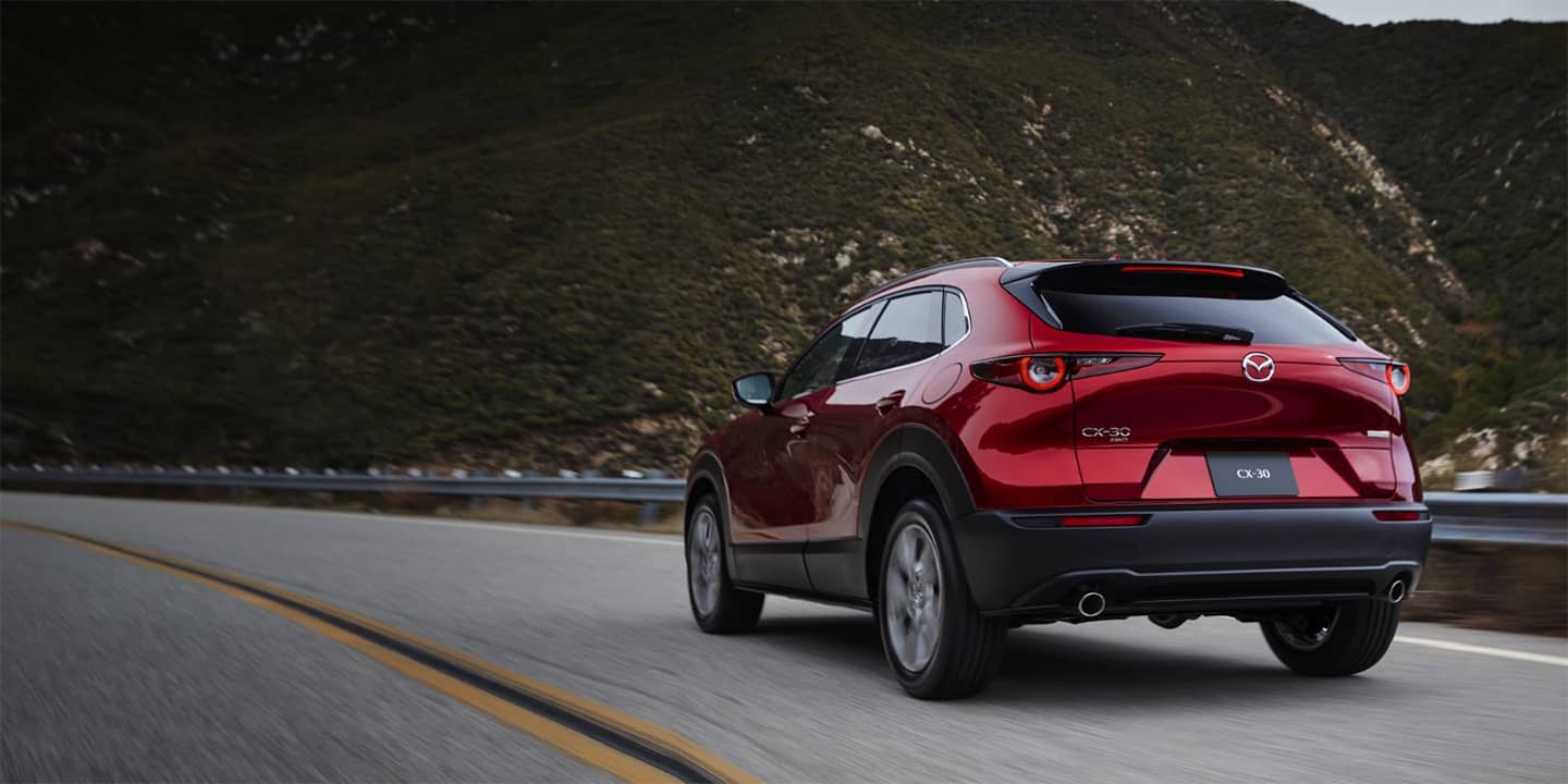 2020 Mazda CX-30 Driving Down a Road